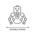 robot pixel perfect linear icon innovative vector image vector image