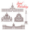 saint petersburg travel landmarks russian tourism vector image