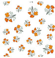 seamless pattern with californian poppy vector image