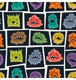 Seamless pattern with little angry viruses and vector image vector image