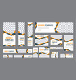 set web banners standard size with a place vector image vector image