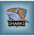 sharks logo emblem for a sport team vector image