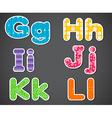 Six alphabet letters vector image