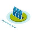 solar power plant solar panels vector image