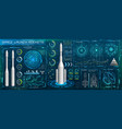 space launch interface rockets sky-fi hud head vector image vector image