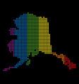 spectrum pixel lgbt alaska map vector image vector image