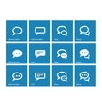 Speech bubble icons on blue background vector image vector image