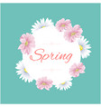 spring circle flower green background image vector image vector image