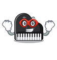 super hero piano character cartoon style vector image vector image