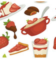 sweets and cakes pasty foot baked meal with vector image vector image