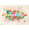 Thank you quote poster design background vector image vector image