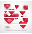 Valentine Hearts Background vector image