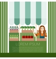 Vegetable market banner vector image