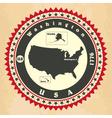 vintage label-sticker cards united states am vector image