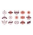 vintage ornamental logo retro badges for brand vector image