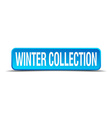 Winter collection blue 3d realistic square vector image vector image