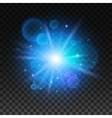 Bright star explosion Light lens flare sparkle vector image