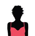 girl beauty color silhouette vector image
