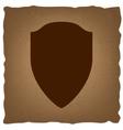 Shield sign Vintage effect vector image