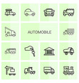 14 automobile icons vector image vector image
