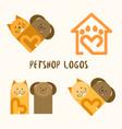 4 petshop logos vector image