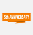 5th anniversary vector image