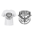 american eagle flag t-shirt print mockup us club vector image vector image