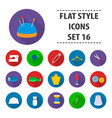 atelie set icons in flat style big collection vector image vector image