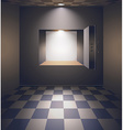 Bank room with safe vector image
