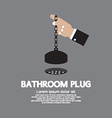 Bathroom Plug With Chain vector image vector image