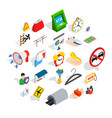 big city icons set isometric style vector image vector image