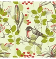 bird and lilies wallpaper vector image