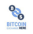 bitcoin exchange here image vector image vector image