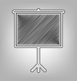 blank projection screen pencil sketch vector image vector image