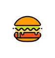 burger abstract outline logo template fast vector image vector image
