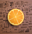 Business infographics - fresh orange idea