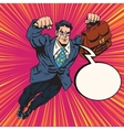 Businessman super hero flying vector image vector image