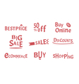 Buy and shopping design for web and banners vector image vector image