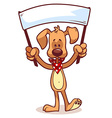 Character dog with a banner vector image vector image