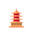 chinese pagoda architecture culture traditional vector image