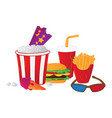 cinema symbols isolated on white background vector image vector image