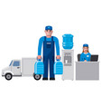 clean water delivery service vector image
