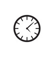 clock time icon graphic design template vector image vector image