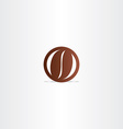coffee bean icon design element vector image