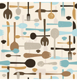 Cutlery seamless pattern background vector image
