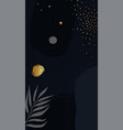 dark blue artistic background with gold details vector image