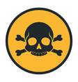 death human skull silhouette danger sign vector image