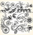 decorative swirls set for design vector image vector image