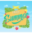 Enjoy Summer Abstract Card Poster or vector image vector image
