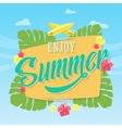 enjoy summer abstract card poster vector image
